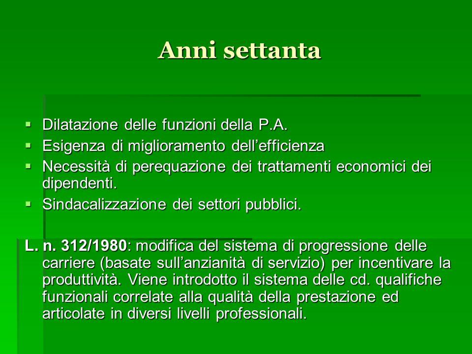 La legge-quadro sul pubblico impiego n.