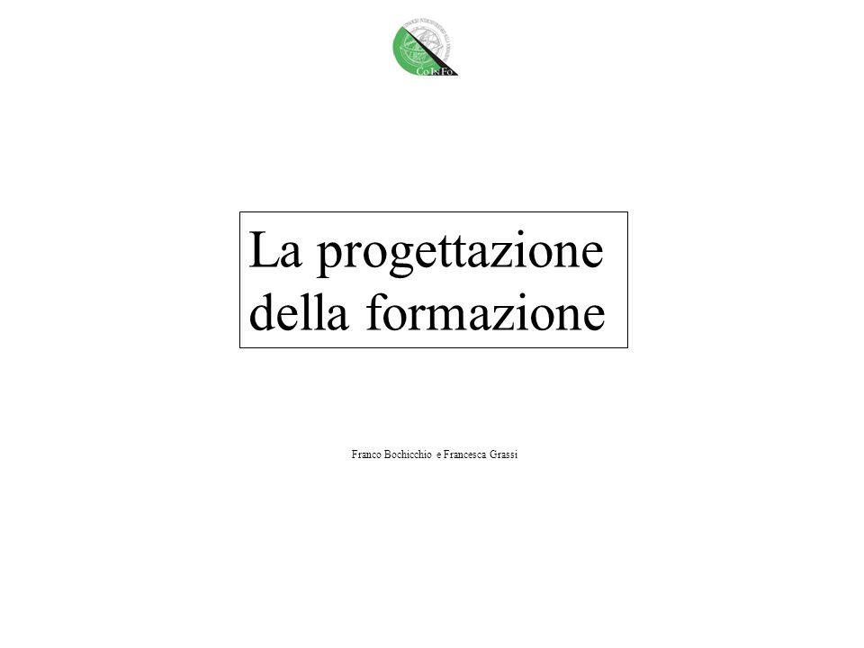 La progettazione della formazione Franco Bochicchio e Francesca Grassi