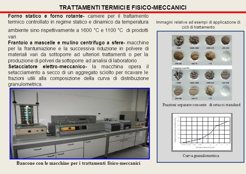 Forno statico e forno rotante- camere per il trattamento termico controllato in regime statico e dinamico da temperatura ambiente sino rispettivamente