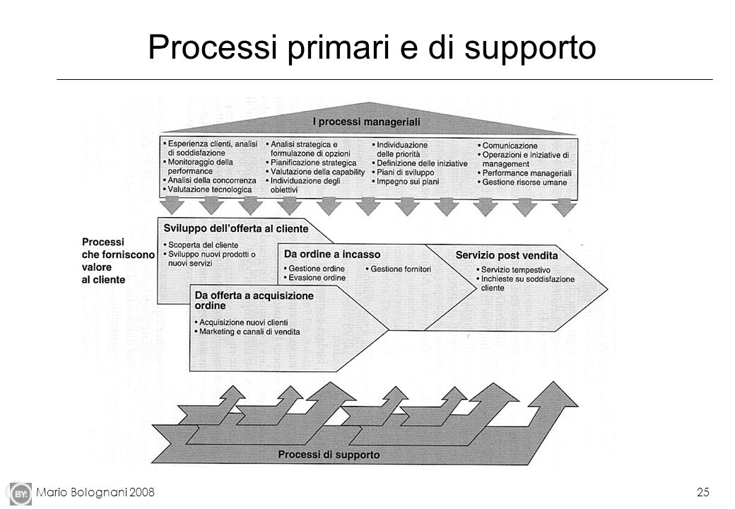 Mario Bolognani 200825 Processi primari e di supporto