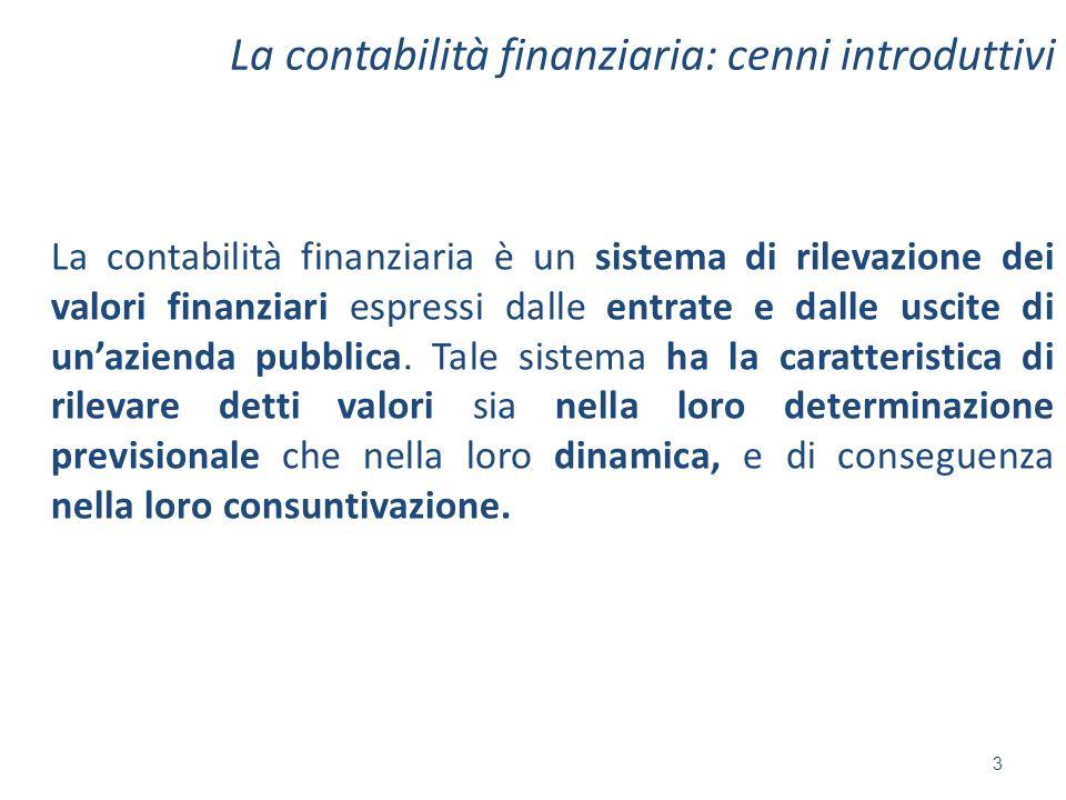 La contabilità finanziaria: cenni introduttivi La contabilità finanziaria è un sistema di rilevazione dei valori finanziari espressi dalle entrate e d