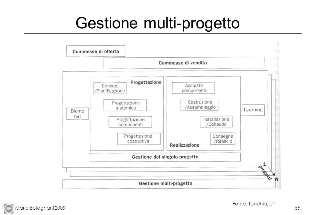 Mario Bolognani 200955 Gestione multi-progetto Fonte: Tonchia, cit