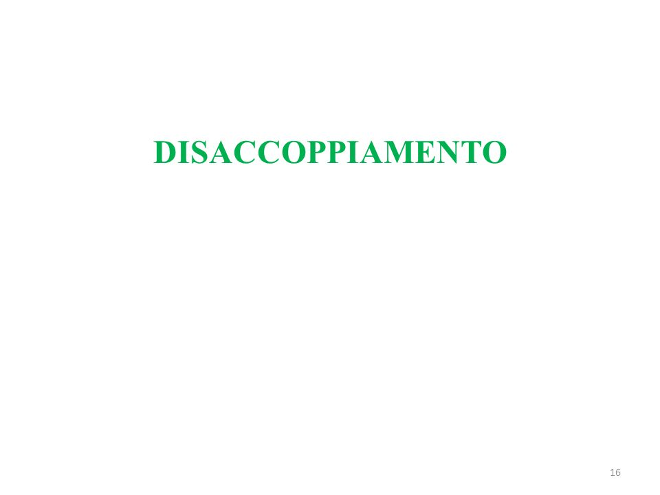 16 DISACCOPPIAMENTO