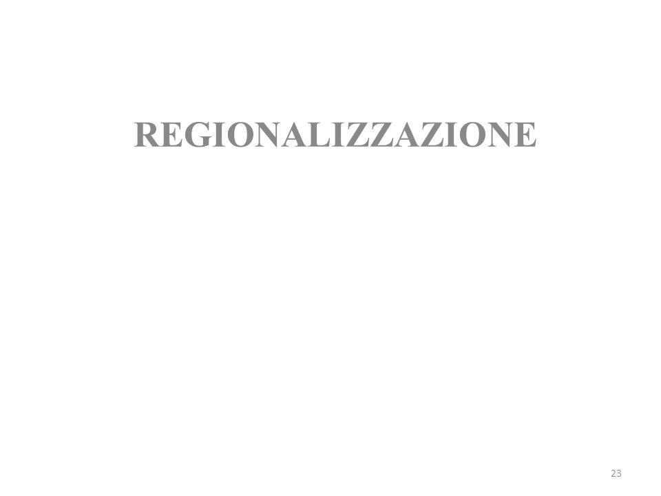 23 REGIONALIZZAZIONE