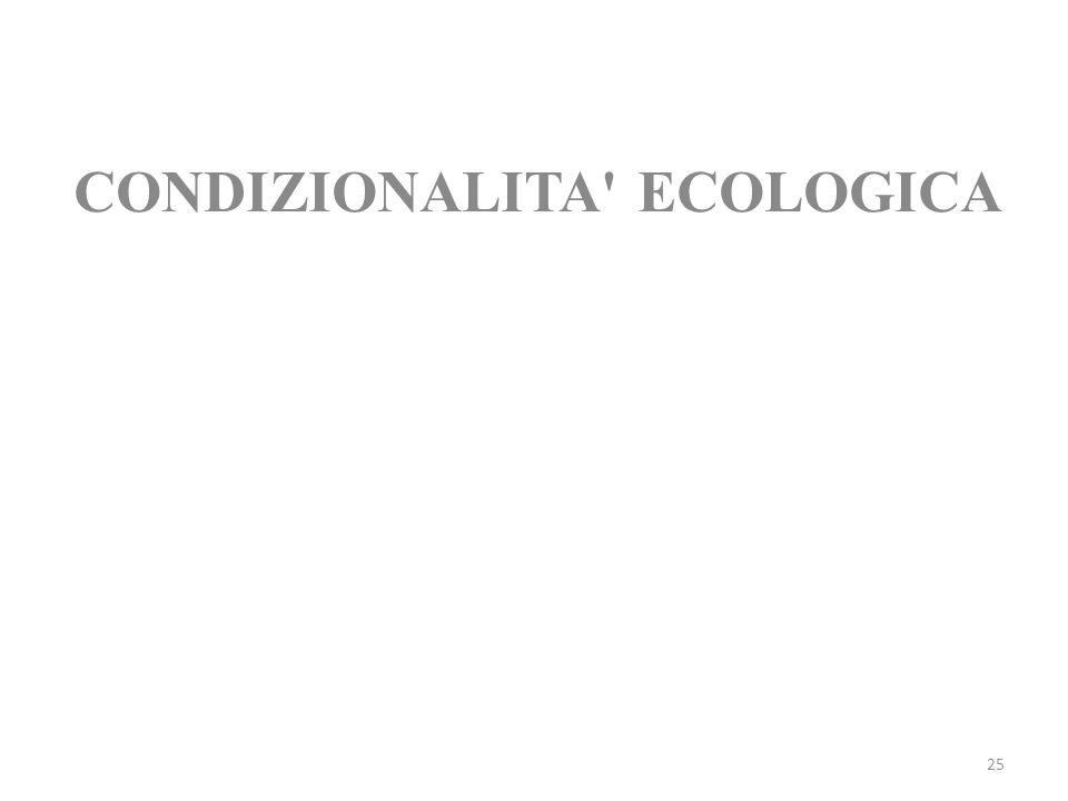 25 CONDIZIONALITA' ECOLOGICA