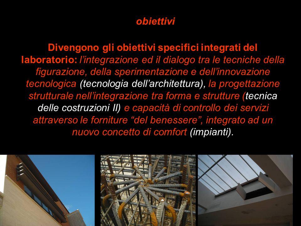 Divengono gli obiettivi specifici integrati del laboratorio: lintegrazione ed il dialogo tra le tecniche della figurazione, della sperimentazione e de