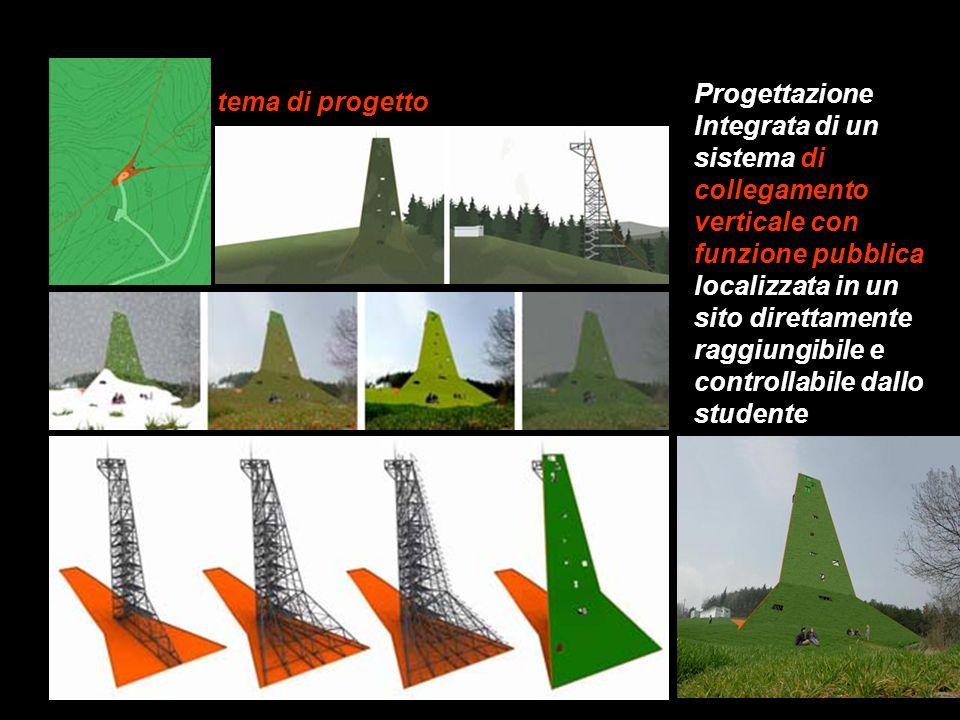 tema di progetto Progettazione Integrata di un sistema di collegamento verticale con funzione pubblica localizzata in un sito direttamente raggiungibi