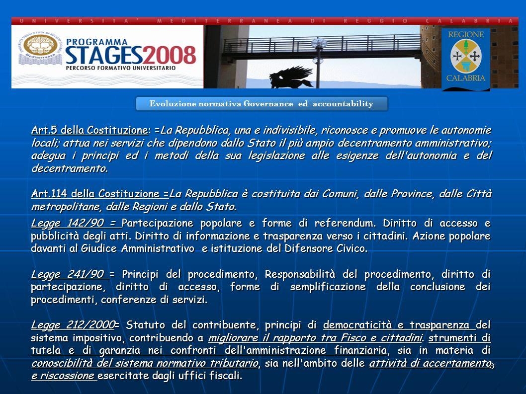 8 Art.5 della Costituzione: =La Repubblica, una e indivisibile, riconosce e promuove le autonomie locali; attua nei servizi che dipendono dallo Stato