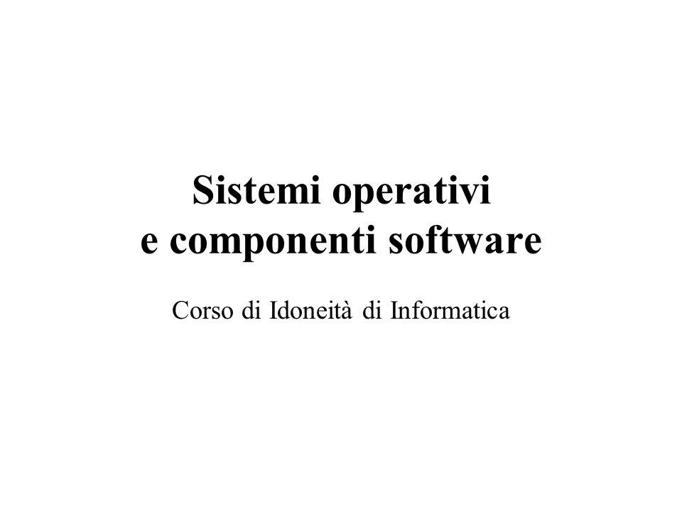 Sistemi operativi e componenti software Corso di Idoneità di Informatica