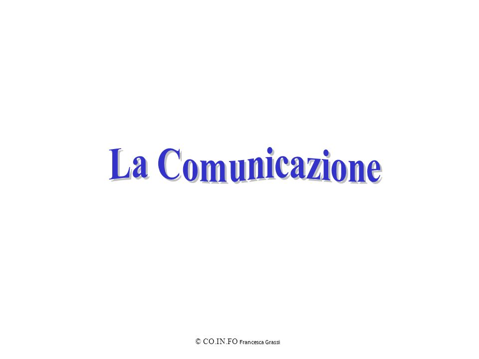 È la comunicazione che trae impulso dalla propria volontà.