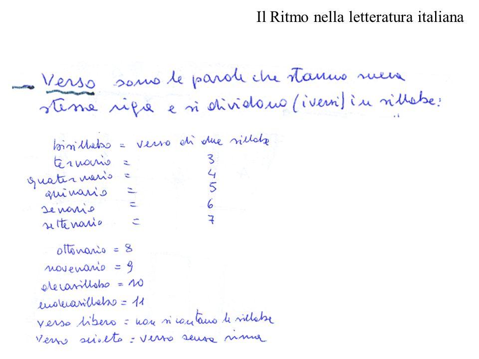 Il Ritmo nella letteratura italiana