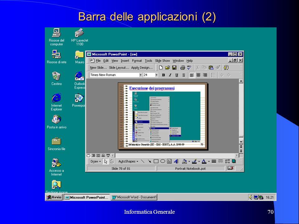 Informatica Generale70 Barra delle applicazioni (2)