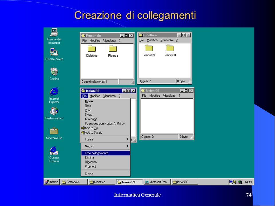 Informatica Generale74 Creazione di collegamenti