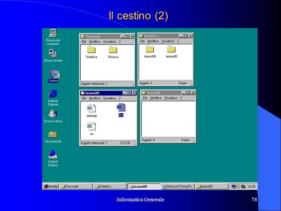 Informatica Generale78 Il cestino (2)