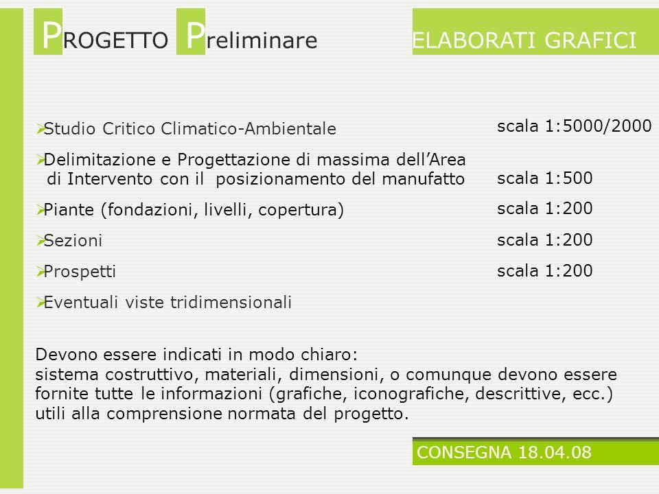 Studio Critico Climatico-Ambientale Delimitazione e Progettazione di massima dellArea di Intervento con il posizionamento del manufatto Piante (fondaz
