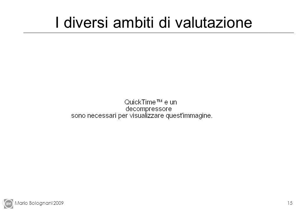 Mario Bolognani 200915 I diversi ambiti di valutazione