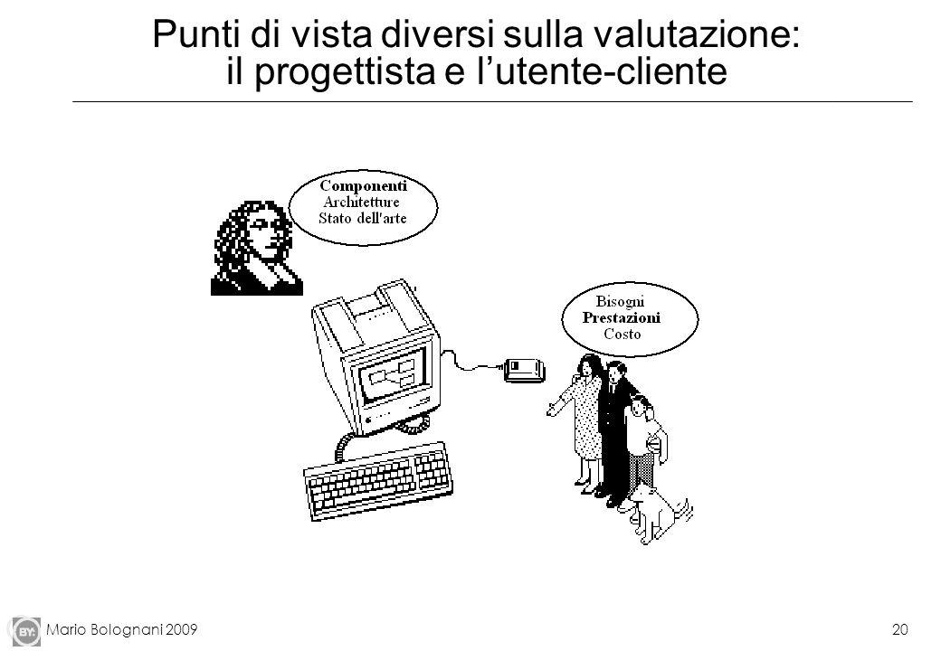 Mario Bolognani 200920 Punti di vista diversi sulla valutazione: il progettista e lutente-cliente