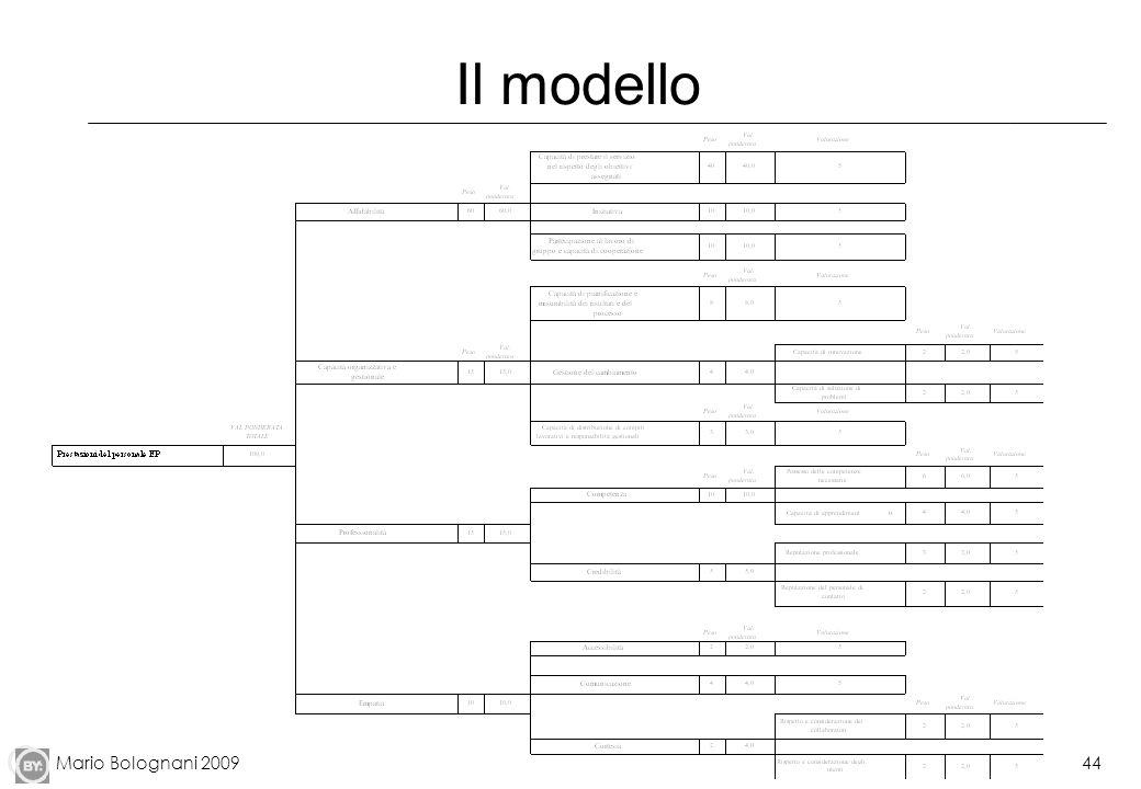 Mario Bolognani 200944 Il modello