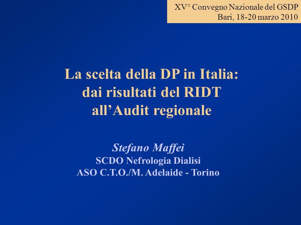 Pazienti prevalenti in dialisi in Piemonte e Valle dAosta