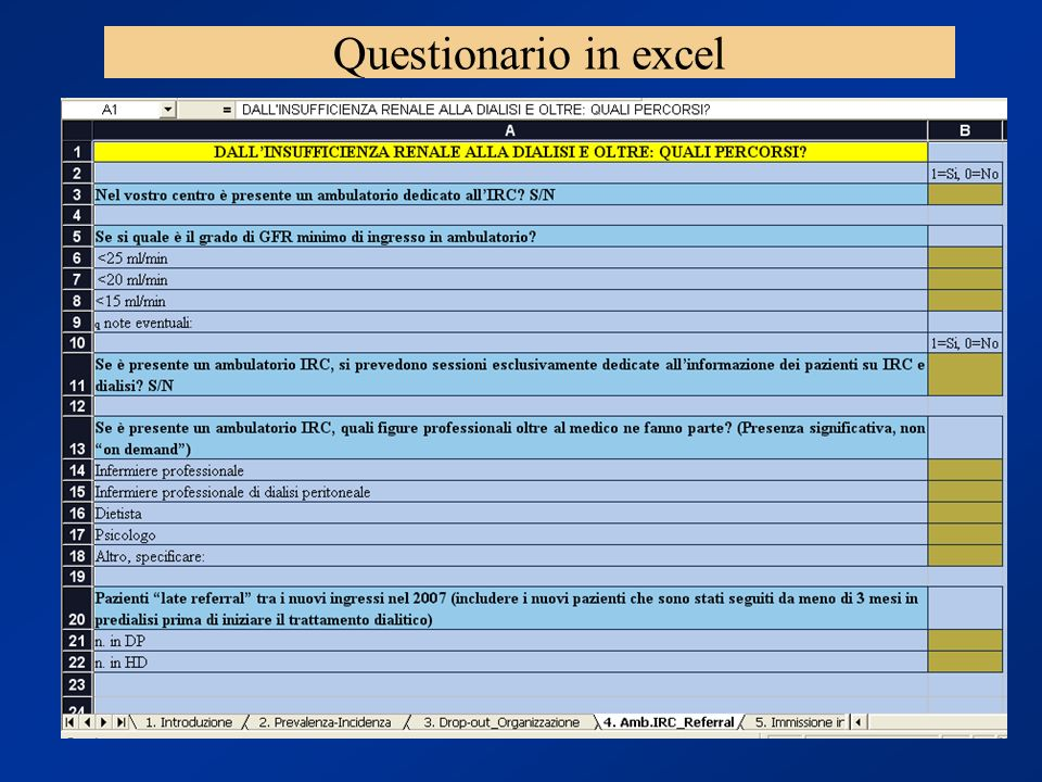 Questionario in excel