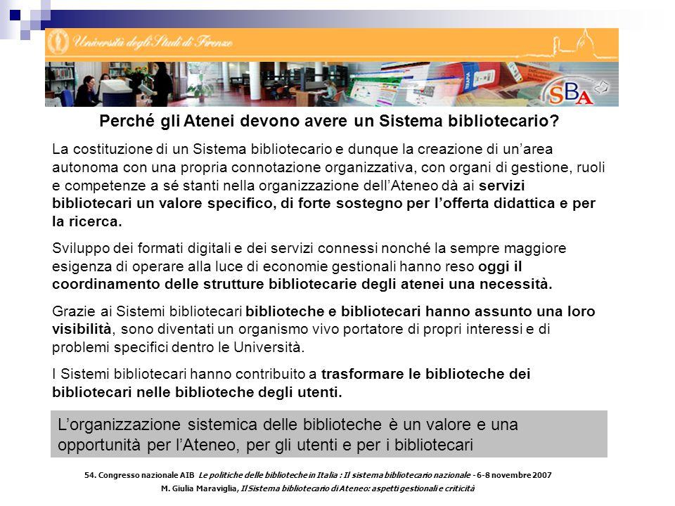 54. Congresso nazionale AIB Le politiche delle biblioteche in Italia : Il sistema bibliotecario nazionale - 6-8 novembre 2007 M. Giulia Maraviglia, Il