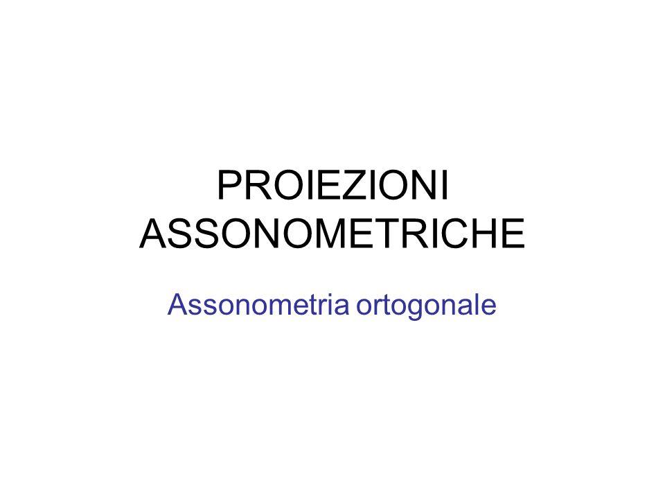 PROIEZIONI ASSONOMETRICHE Assonometria ortogonale