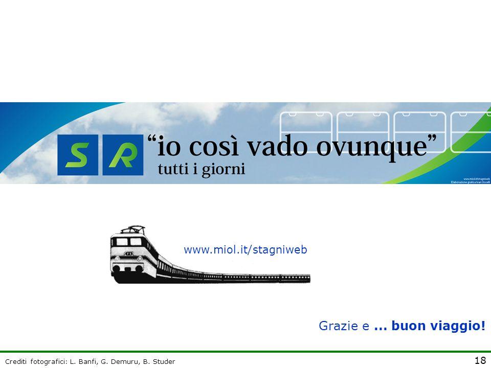 18 www.miol.it/stagniweb Grazie e... buon viaggio! Crediti fotografici: L. Banfi, G. Demuru, B. Studer