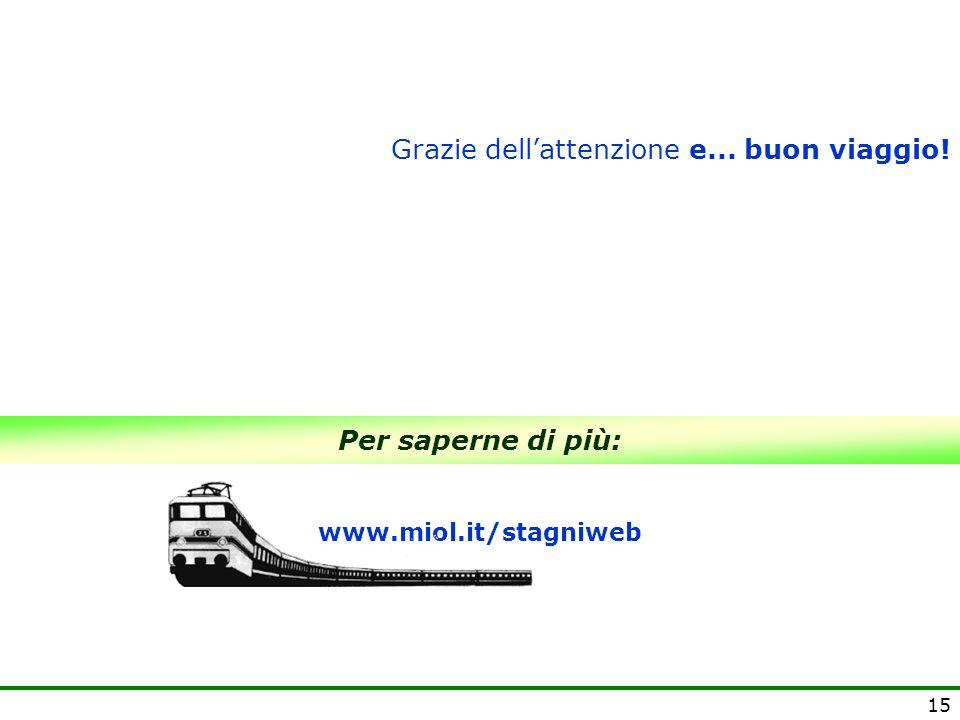 15 Per saperne di più: www.miol.it/stagniweb Grazie dellattenzione e... buon viaggio!