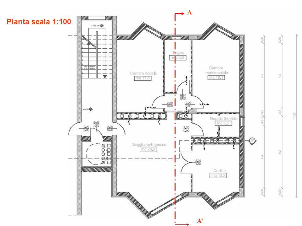 Sezione A-A scala 1:100