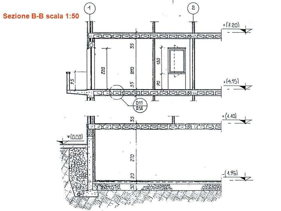 Sezione B-B scala 1:50