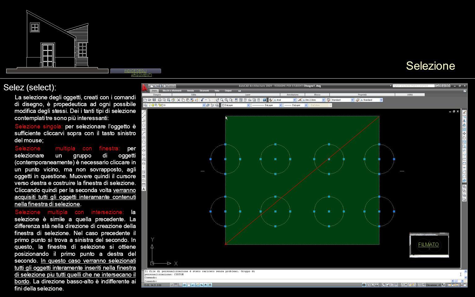 Menu edita 01 Cancella (erase): È possibile elimirare uno o più oggetti utilizzando il comando cancella.