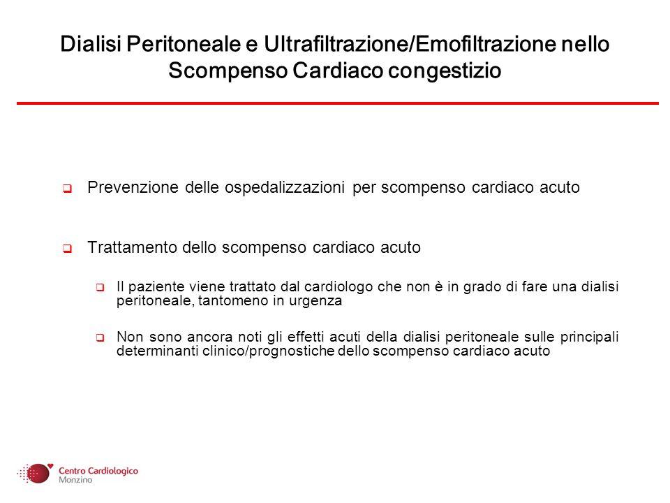Scompenso Cardiaco Congestizio Edema Insufficienza renale Attivazione neuro-ormonale Principali determinanti clinico/prognostiche rispetto alle quali si devono confrontare nuovi approcci terapeutici per essere validati nel trattamento dello scompenso cardiaco