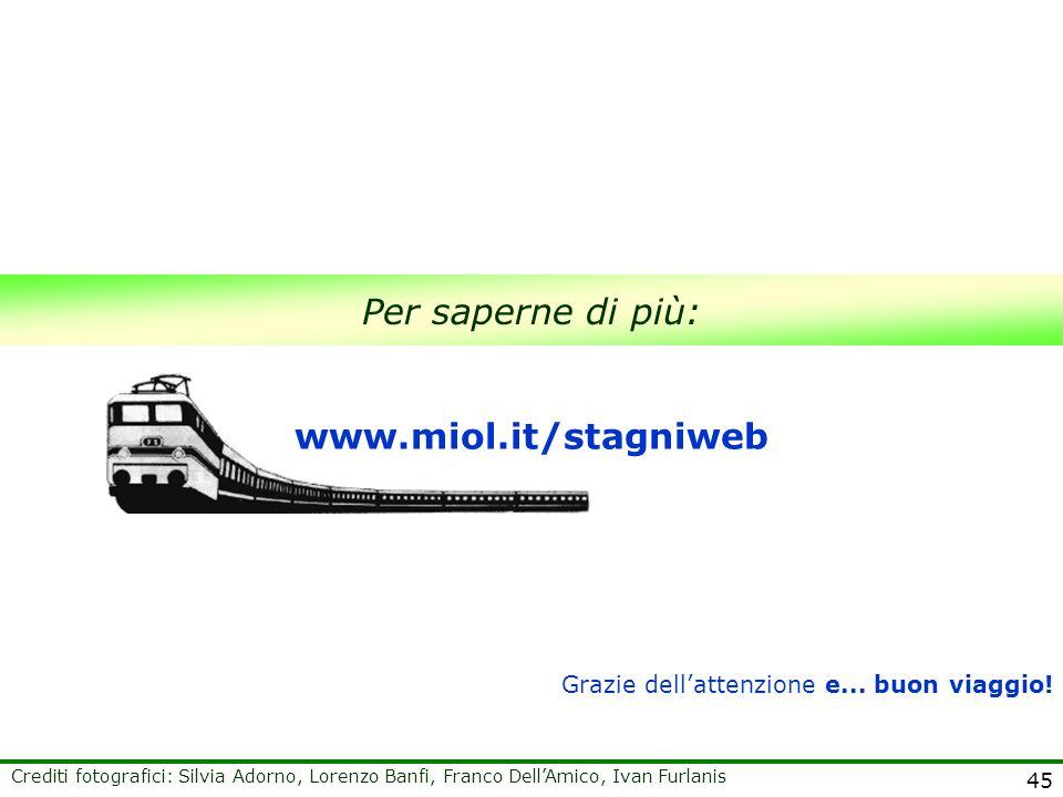 45 Per saperne di più: www.miol.it/stagniweb Grazie dellattenzione e... buon viaggio! Crediti fotografici: Silvia Adorno, Lorenzo Banfi, Franco DellAm