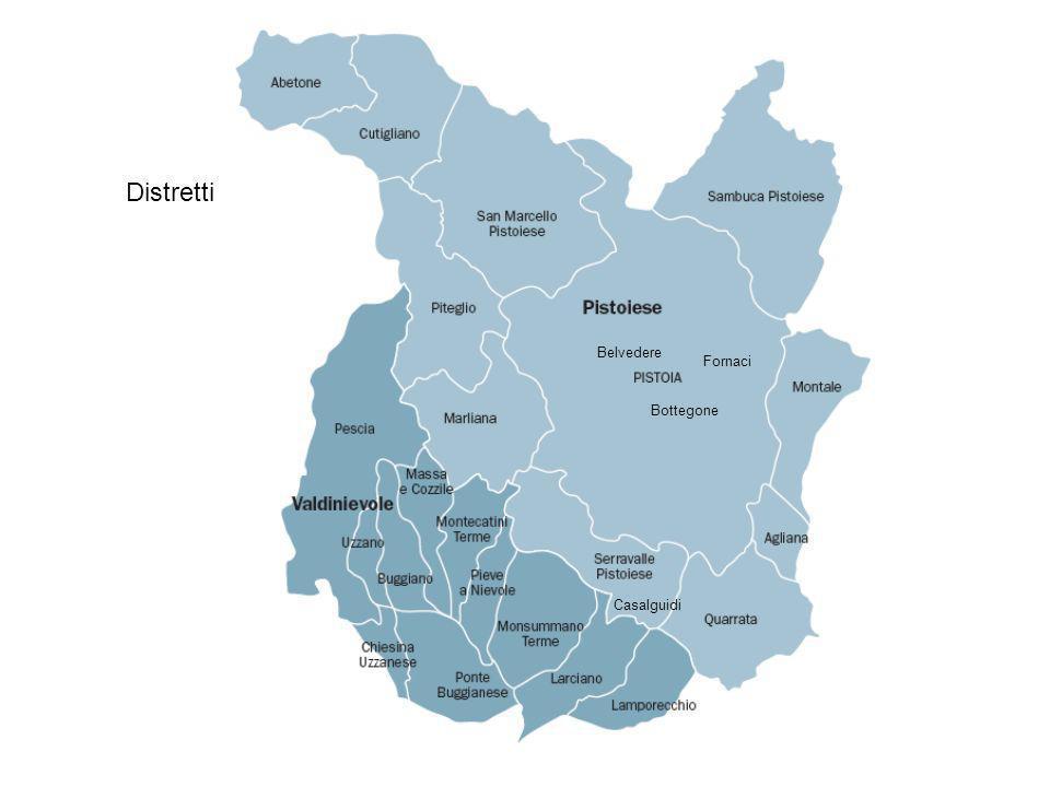 Distretti Bottegone Belvedere Casalguidi Fornaci