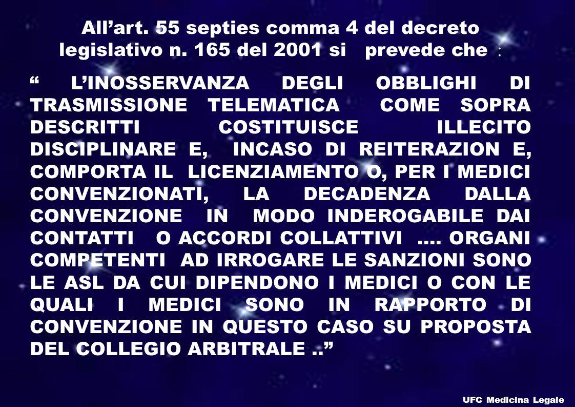 Allart.55 septies comma 4 del decreto legislativo n.