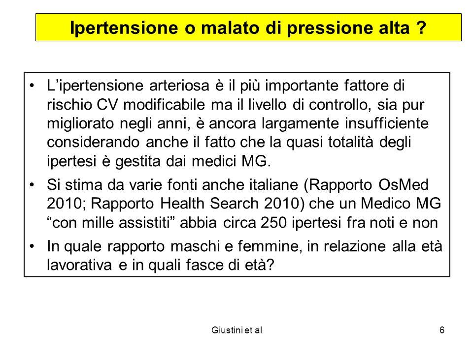 Giustini et al6 Ipertensione o malato di pressione alta .
