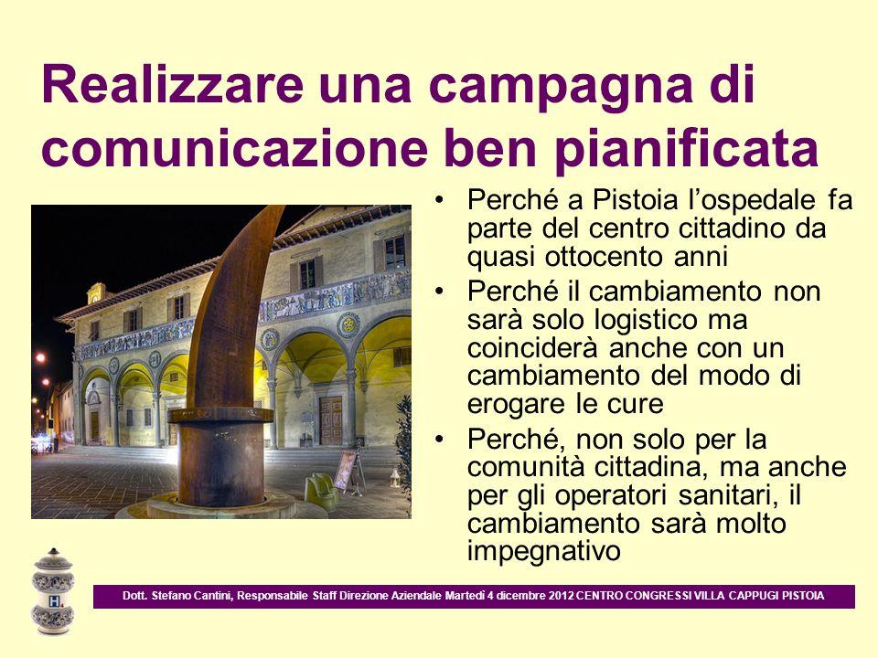Perché a Pistoia lospedale fa parte del centro cittadino da quasi ottocento anni Perché il cambiamento non sarà solo logistico ma coinciderà anche con