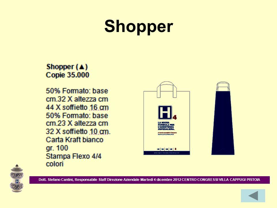 Shopper Dott. Stefano Cantini, Responsabile Staff Direzione Aziendale Martedì 4 dicembre 2012 CENTRO CONGRESSI VILLA CAPPUGI PISTOIA