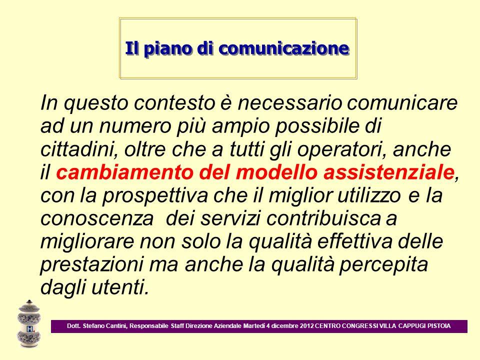 In questo contesto è necessario comunicare ad un numero più ampio possibile di cittadini, oltre che a tutti gli operatori, anche il cambiamento del mo