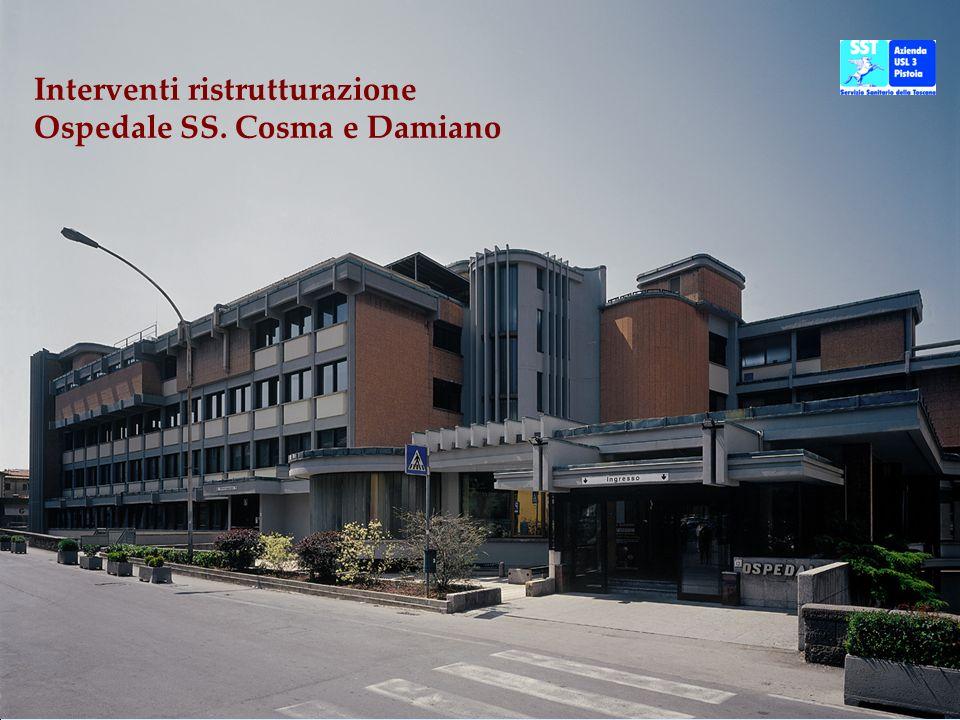 Polo endoscopico Filanda Accoglienza Interventi ristrutturazione Ospedale SS.