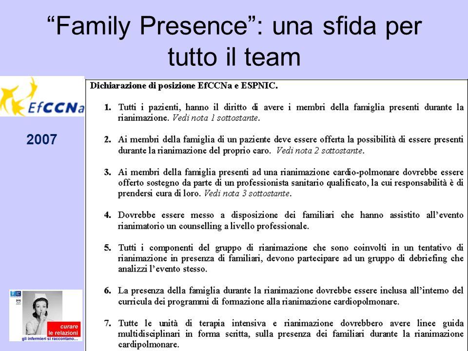 Family Presence: una sfida per tutto il team 2007