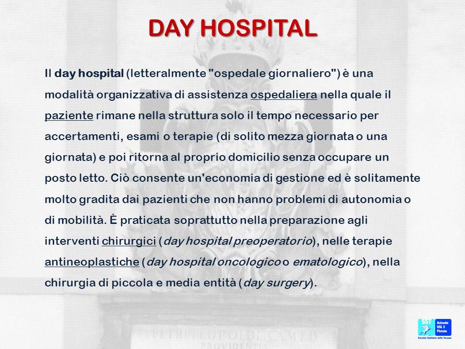 ATTO DI NASCITA DEL DAY HOSPITAL LEGGE 595 (23.10.1985) Si fa espresso riferimento al DH come conseguenza delle misure di riorganizzazione e del ridimensionamento dei posti letto.