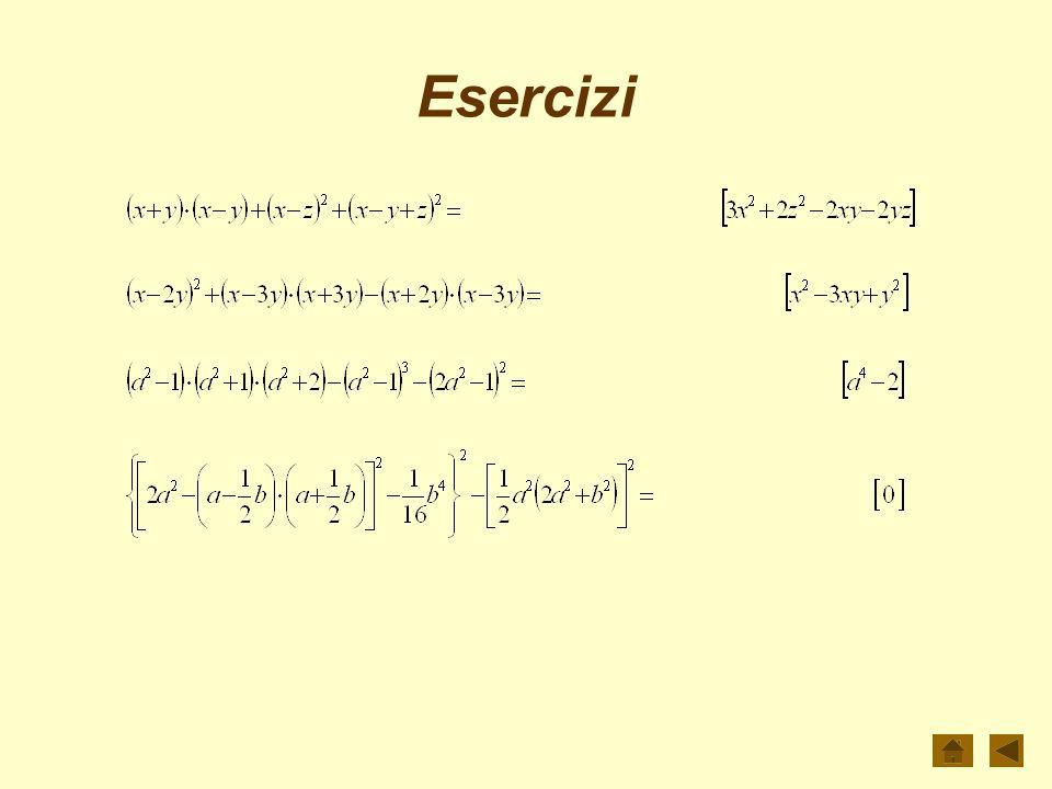 Potenza di binomio La potenza del binomio è un polinomio omogeneo di grado n, ordinato secondo le potenze decrescenti di a e crescenti di b, i cui coe