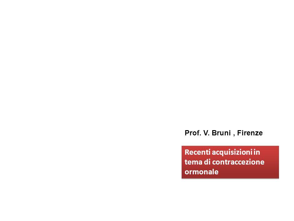 Recenti acquisizioni in tema di contraccezione ormonale Recenti acquisizioni in tema di contraccezione ormonale Prof. V. Bruni, Firenze