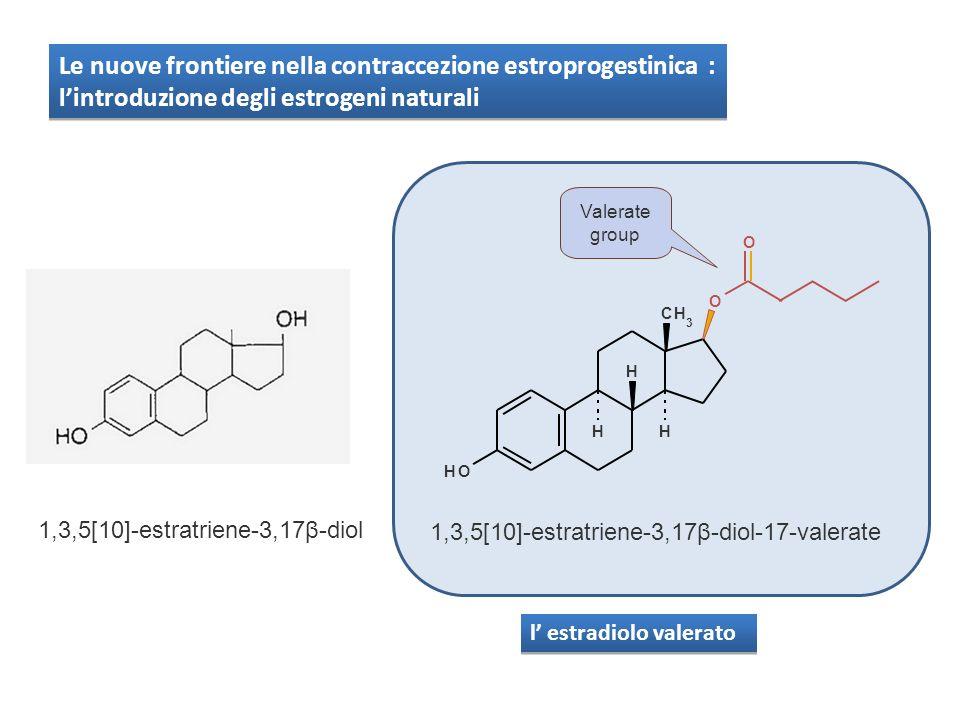 l estradiolo valerato 1,3,5[10]-estratriene-3,17β-diol-17-valerate O CH 3 OH HH H O Valerate group 1,3,5[10]-estratriene-3,17β-diol Le nuove frontiere