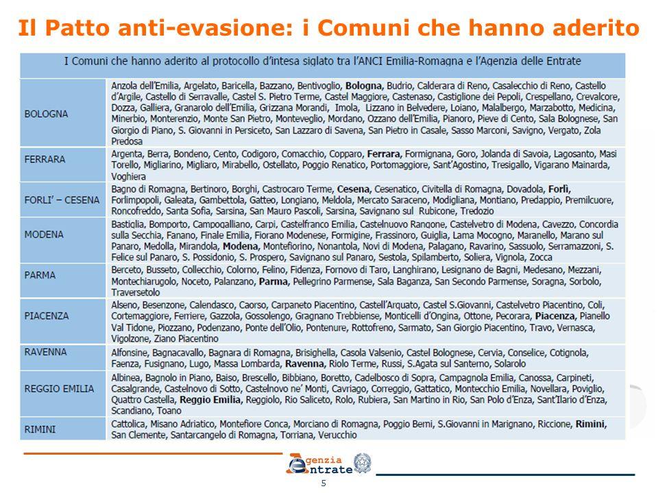 Il Patto anti-evasione: i Comuni che hanno aderito 5