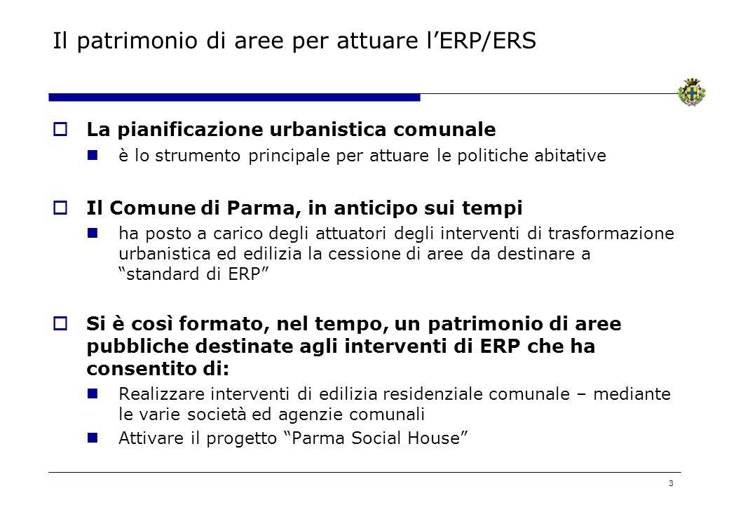 3 Il patrimonio di aree per attuare lERP/ERS La pianificazione urbanistica comunale è lo strumento principale per attuare le politiche abitative Il Co