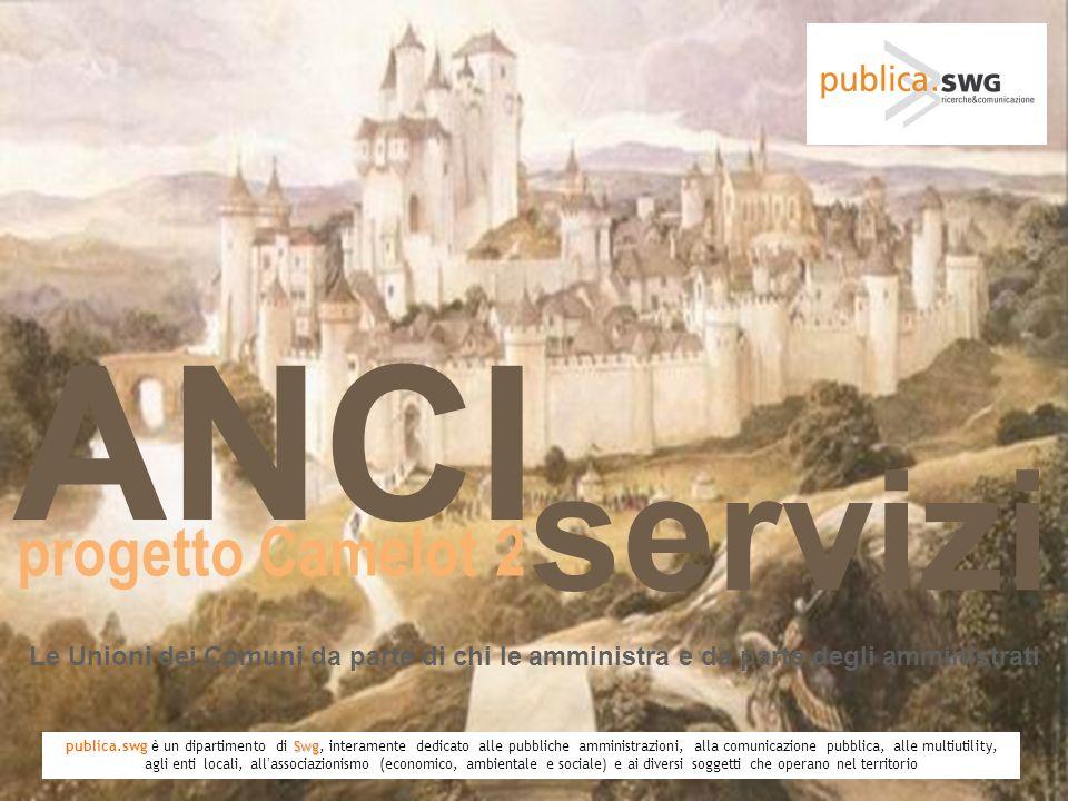 Le Unioni dei Comuni da parte di chi le amministra e da parte degli amministrati ANCI progetto Camelot 2 servizi Swg publica.swg è un dipartimento di