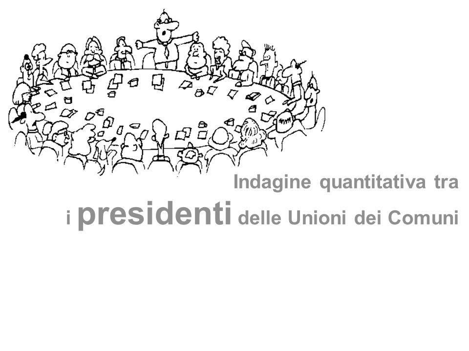 Indagine quantitativa tra i presidenti delle Unioni dei Comuni