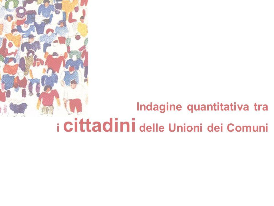 Indagine quantitativa tra i cittadini delle Unioni dei Comuni
